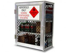 Aerosol can storage cage - 216 cans