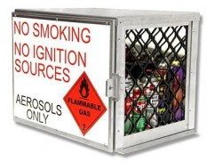 Aerosol safety storage cage - 35 cans