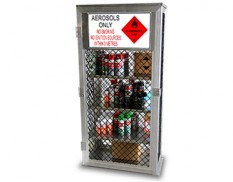 Aerosol safety cage - store up to 360 cans