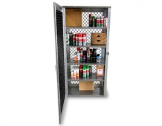 Aerosol spray can storage cage - 495 cans