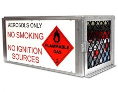 Aerosol safety storage cage - 72 cans