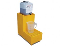 Decanting stand with 40L small bund