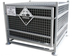 Battery transport cages