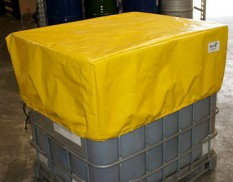 Custom made IBC cover - spill pallet cover