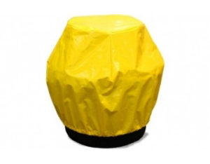 Single drum bund cover - yellow canvacon