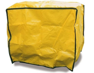 Four drum spill pallet covers - yellow canvacon