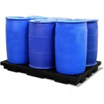 Six drum low profile bunded spill pallet