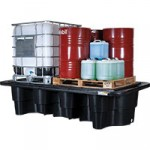 Double IBC bunded spill containment pallet