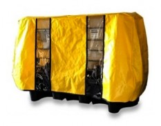 Double IBC bund cover - yellow canvacon