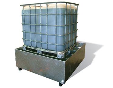 Single Ibc Bund Galvanised Steel Spill Containment Pallet