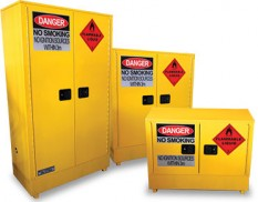 Safety cabinets - flammable substances
