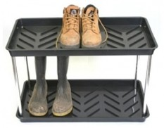 Two-tier boot tray