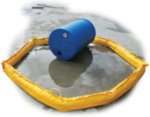 PVC sand filled containment barrier