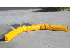 Portable PVC sand filled spill barriers