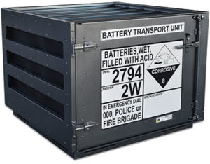 Battery transport unit