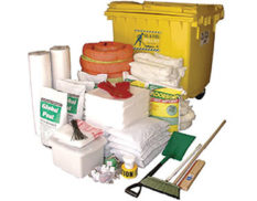 Spill kit - oil and fuel large mobile bin 1270L absorbent capacity