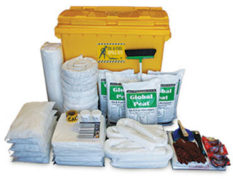 Spill kit - oil and fuel large mobile bin 770L absorbent capacity