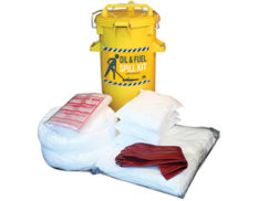 Indoor oil spill kit 75 litre absorbent capacity