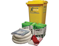 Budget oil and fuel spill response kit