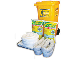 Oil and fuel spill response kit 318 litre absorbent capacity