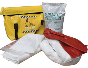 Truck oil spill kit