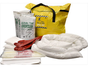 Oil spill kit for trucks