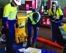 Oil and chemical spill response training