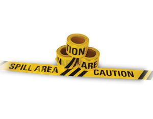Caution Spill Area barrier tape 50m