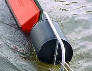 Towing bridle with HDPE float