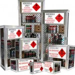 Gas and aerosol safety storage cages