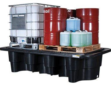 Double IBC spill pallet containment bund