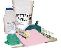 Battery acid spill kit 6 litre absorbent capacity