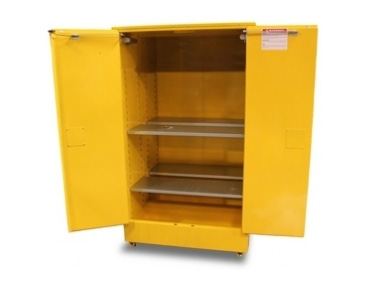 Flammable safety storage cabinet 350L inside