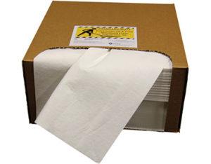 Oil absorbing pads standard duty in dispensing carton