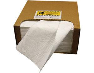 Oil absorbent pads heavy duty in dispensing carton
