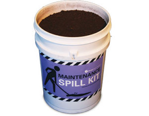 Oil spill maintenance kit Global peat pail 20L