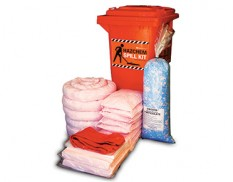 Hazchem spill response kit 185 litre absorbent capacity