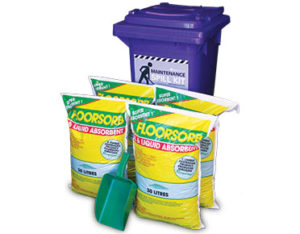 Maintenance spill kit Floorsorb 60 litre absorbent capacity