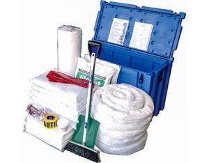 Large oil spill kit in waterproof case 490 litre