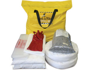 Indoor oil spill kit