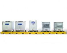 Modular IBC spill containment pallet