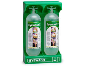Tobin portable eyewash stand - 2x one litre bottles