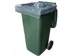 Clear bin liner for 240 litre wheelie bin