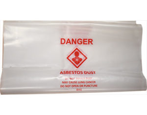Asbestos bust disposal bag