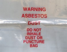 Asbestos disposal bag