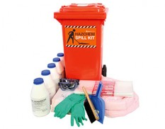 Battery acid spill kit - 82 litre absorbent capacity