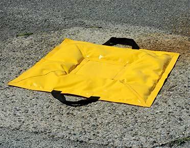 Gel-filled drain covers