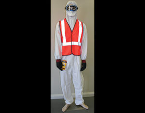 Combustible liquids PPE pack for oil and fuel spill kits
