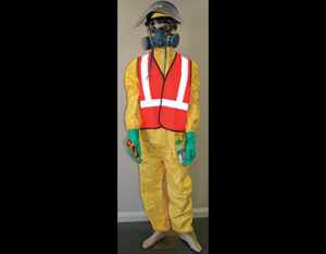 Hazardous liquids PPE pack for hazchem spill kits