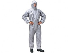 Tychem F chemical protective coveralls